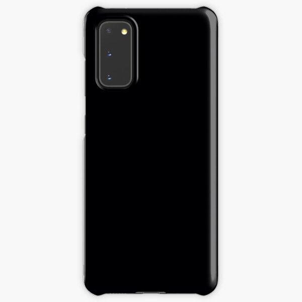 Black / Jet Black Solid Color Samsung Galaxy Snap Case