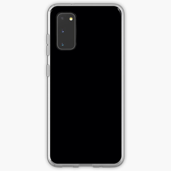 Black / Jet Black Solid Color Samsung Galaxy Soft Case