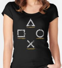 Adventurous Button Icons (Ver. 1) Women's Fitted Scoop T-Shirt