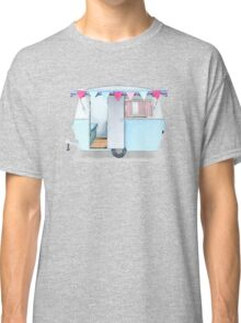 Cute vintage caravan with bunting Classic T-Shirt