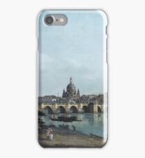 Bernardo Bellotto - Dresden Seen From The Right Bank Of The Elbe, Beneath The Augusts Bridge iPhone Case/Skin