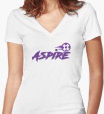 Launceston Aspire Paintball Team (Dark) Women's Fitted V-Neck T-Shirt