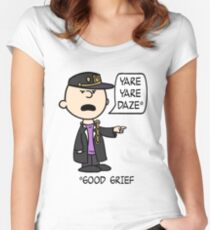Peanuts' Bizarre Adventure Women's Fitted Scoop T-Shirt