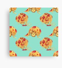 Pizza Pasta Mushrooms Canvas Print