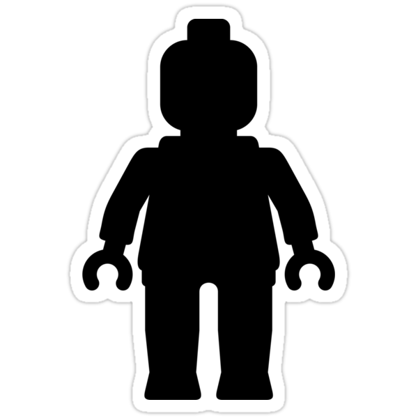 Minifig [Large Black] by Customize My Minifig