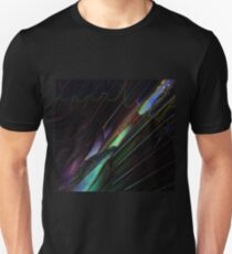 Lilac Neon Feather Background - Fresh and New Ideas of Color and Light T-Shirt