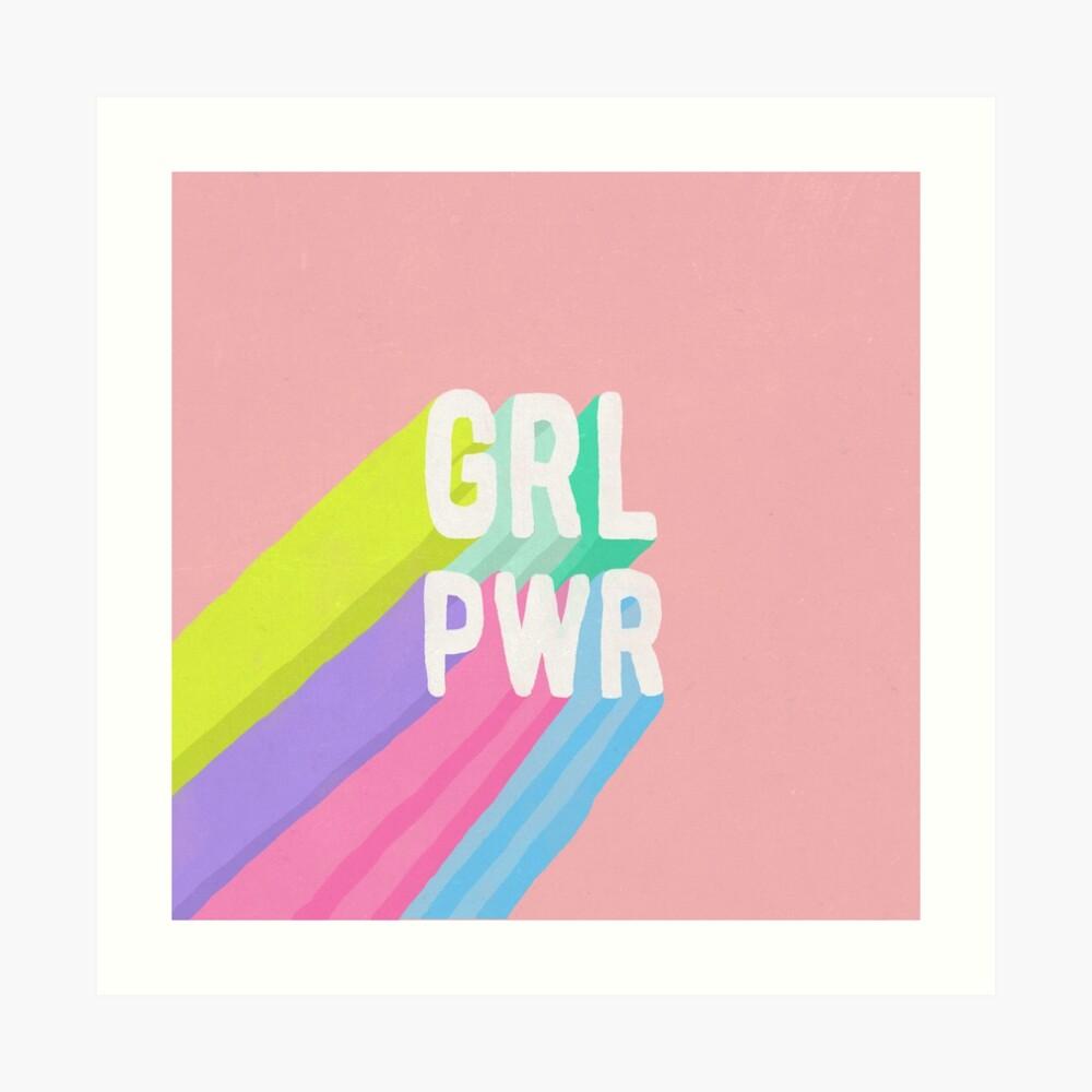 GRL PWR x Pink Art Print