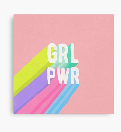 GRL PWR x Pink Canvas Print