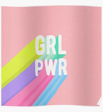 GRL PWR x Pink Poster