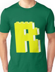 THE LETTER R, by Customize My Minifig T-Shirt