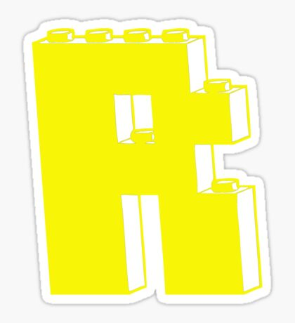 THE LETTER R, by Customize My Minifig Sticker
