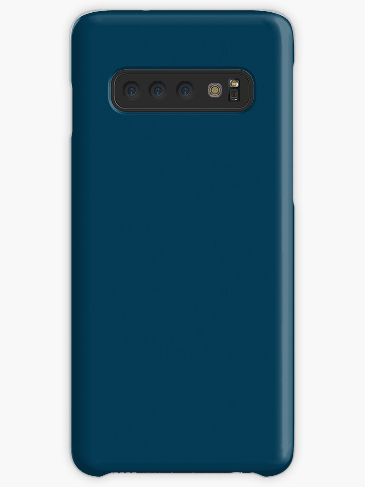 4255069ade 'Navy Blue / Prussian Blue Solid Color' Case/Skin for Samsung Galaxy by  patternplaten