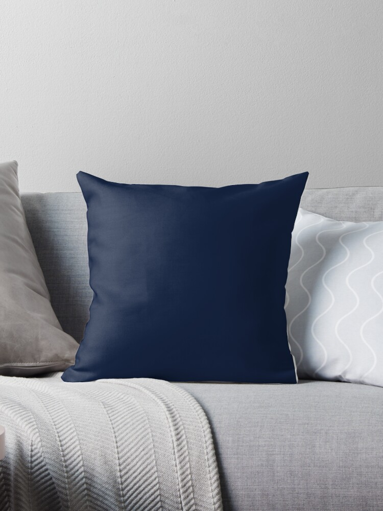6dd7b0e19f 'Dark Blue / Maastricht Blue Solid Color' Throw Pillow by patternplaten
