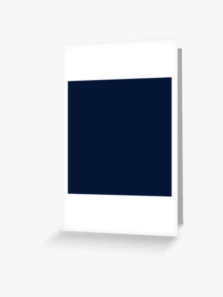 ead1e784c0 Dark Blue / Maastricht Blue Solid Color | Greeting Card