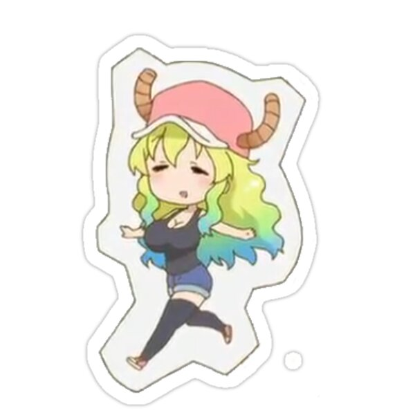 miss kobayashi 39 s dragon maid lucoa sticker stickers by mathew perry redbubble. Black Bedroom Furniture Sets. Home Design Ideas