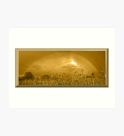 Somewhere In a Cornfield It`s Amber Art Print