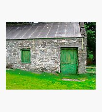Stone barn, Donegal, Ireland Photographic Print