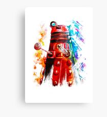 Multicoloured Dalek Canvas Print