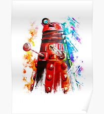 Multicoloured Dalek Poster