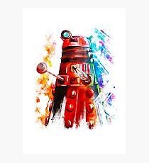 Multicoloured Dalek Photographic Print