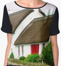 Thatched Cottage, Donegal, Ireland Women's Chiffon Top