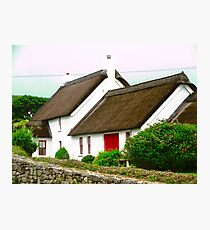 Thatched Cottage, Donegal, Ireland Photographic Print