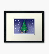 A Christmas scene Framed Print