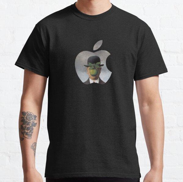 Logotipo de Apple Rene Magritte Camiseta clásica
