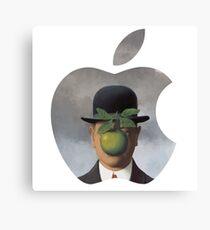 Apple Logo Rene Magritte Canvas Print