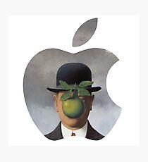 Apple Logo Rene Magritte Photographic Print