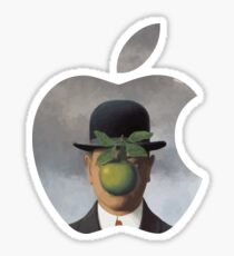 Apple Logo Rene Magritte Sticker