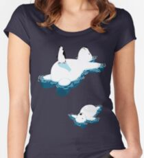 Polar bear and penguin Women's Fitted Scoop T-Shirt