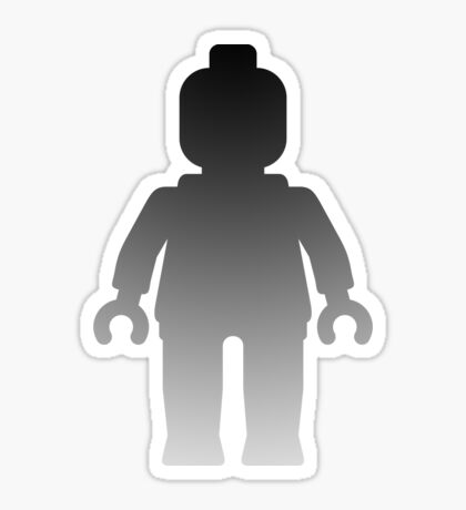 Minifig [Large Silver] Sticker