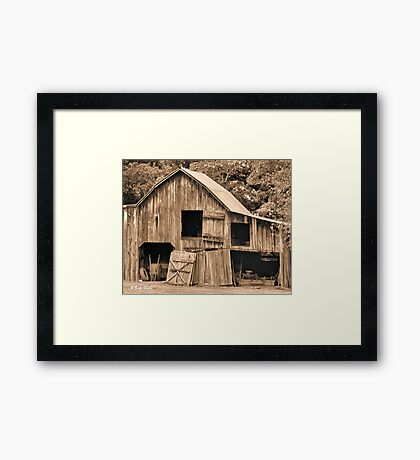 """""""Grandpappy's 'Work-from-Home Jobs Center'""""... prints and products Framed Print"""