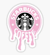 Pink Starbucks drips Sticker