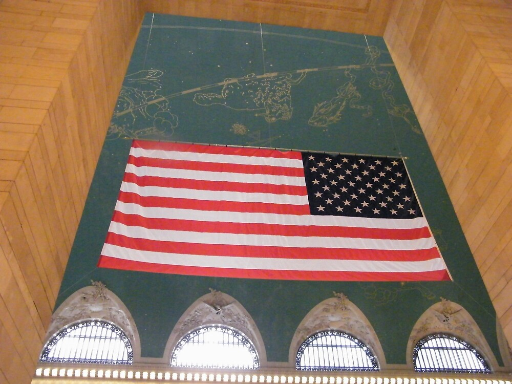 Flag and Constellation, Grand Central Terminal, New York City by lenspiro