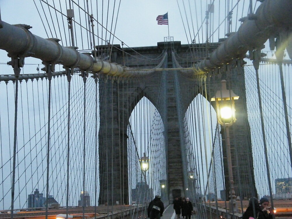 Brooklyn Bridge at Dusk, New York by lenspiro