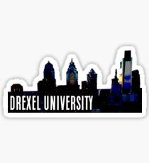 DREXEL UNIVERSITY   PHILLY SKYLINE Sticker