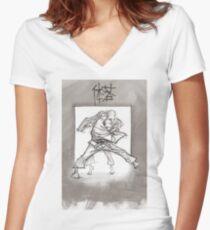 TAI OTOSHI Women's Fitted V-Neck T-Shirt