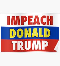 Impeach tRump Russian Flag Poster