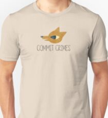 Night In The Woods - Commit Crimes - Black Dirty Unisex T-Shirt