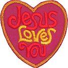 Jesus Loves You Vintage Patch by hilda74