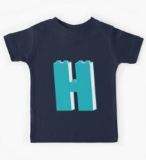 THE LETTER H, by Customize My Minifig Kids Tee