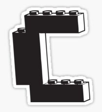 THE LETTER C Sticker