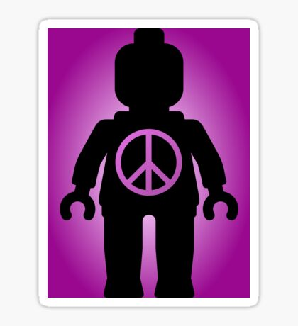 Black Minifig with Peace Symbol, by Customize My Minifig Sticker