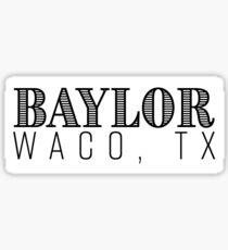 Baylor Waco, Texas Sticker
