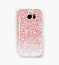 Rose Pink and White Ombre Glitter Samsung Galaxy Case/Skin