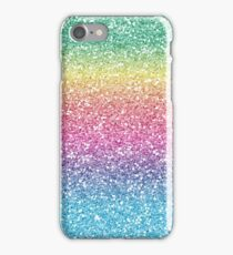 Rainbow Ombre Glitter iPhone Case/Skin