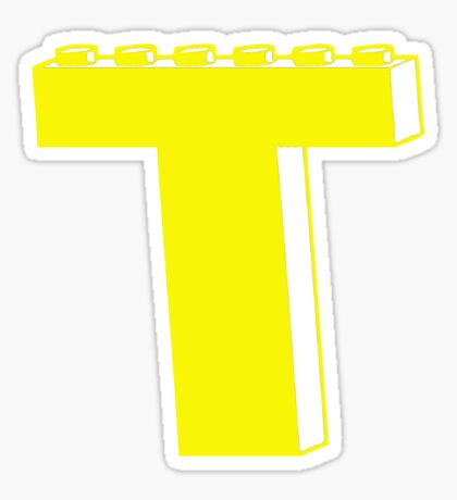 THE LETTER T, by Customize My Minifig Sticker