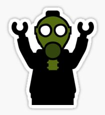 Apocalyse Minifigure wearing Gasmask Sticker